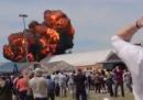 Il video dell'aereo che si è schiantato a Madrid