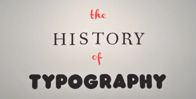 La storia della tipografia, in cinque minuti