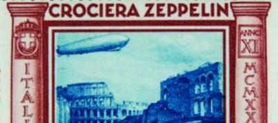 Il primo viaggio dello Zeppelin in Italia