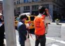 Gli autisti per pedoni a New York