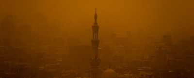 La tempesta di sabbia al Cairo – foto