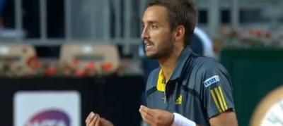 La colorita contestazione del tennista Viktor Troicki, a Roma