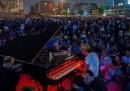 Il concerto di pianoforte nel parco Gezi, a Istanbul