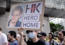 La manifestazione di Hong Kong per Snowden