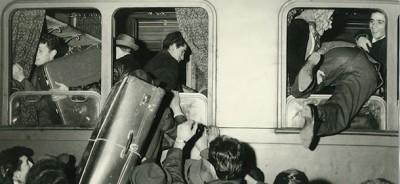 Vecchie foto di vecchi viaggi in treno