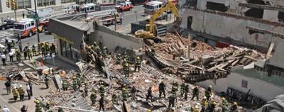 Il palazzo crollato a Philadelphia