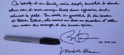 Barack Obama a Robben Island
