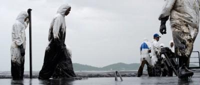 La perdita di petrolio in Thailandia
