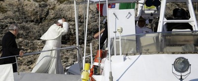 Il Papa a Lampedusa