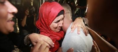 La festa dei palestinesi tornati a casa