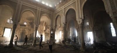 Cosa resta della moschea di Rabaa Al-Adawiya