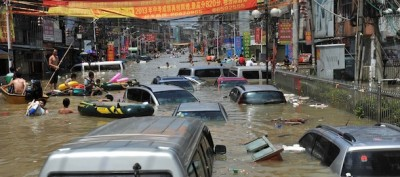 Le foto delle alluvioni in Cina