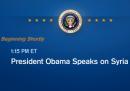 Obama parla sulla Siria