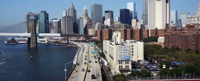 New York vista dal Manhattan Bridge