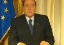 Il videomessaggio di Berlusconi sulla condanna del processo Mediaset