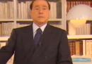 Il nuovo videomessaggio di Silvio Berlusconi