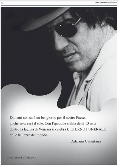 La pagina comprata da Celentano sul Corriere