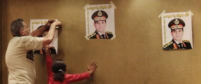 La polizia a Kerdasah, in Egitto