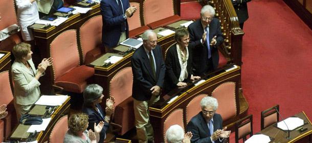 Il primo giorno dei senatori a vita il post for Senatori quanti sono