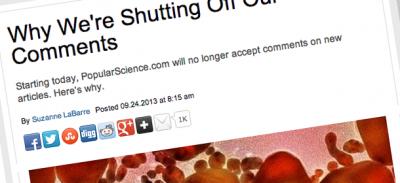 La scienza e i commenti online