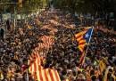 La lunga catena umana in Catalogna