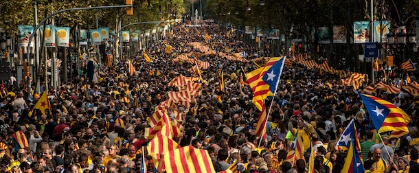 Demonstrations Are Held As Catalans Celebrate Their National Day