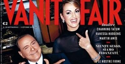 La copertina di Vanity Fair con Berlusconi e Pascale