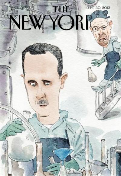 La copertina del New Yorker con Assad e Walter White