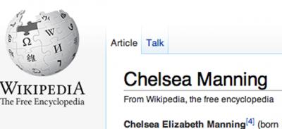 Wikipedia e Chelsea-Bradley Manning