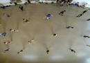Le prove del balletto di Boston, dall'alto