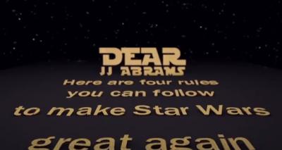 Quattro consigli a JJ Abrams dai fan di Star Wars