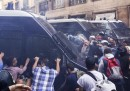 La protesta del Movimento per la casa a Roma