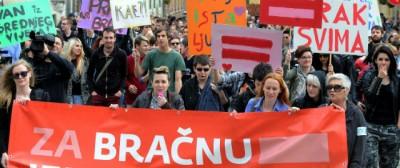 Il  referendum contro i matrimoni gay in Croazia