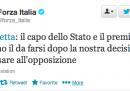 Forza Italia esce dalla maggioranza