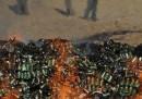 Il rogo di droghe e alcolici a Kabul