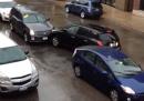 Uno strano incidente d'auto a Chicago