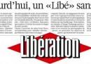 Il numero di Libération uscito senza foto