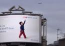 La pubblicità di British Airways che dice quale aereo sta passando