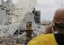 È crollato un pezzo dello stadio Itaquerão, a San Paolo
