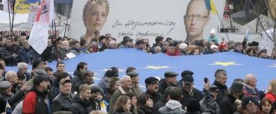 La grande manifestazione in Ucraina