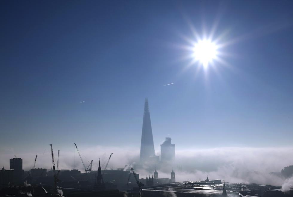 Londra nebbia