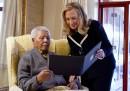 Nelson Mandela e Hillary Clinton