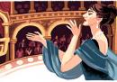 Il doodle di Google per i 90 anni di Maria Callas