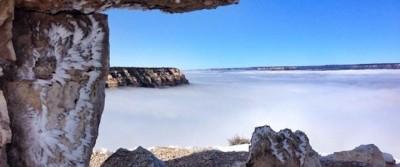 Il Grand Canyon pieno di nuvole