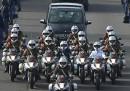 La processione per Nelson Mandela