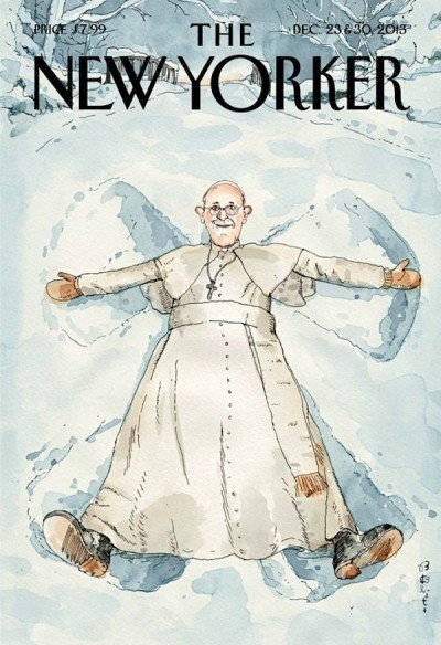 La copertina del New Yorker con Papa Francesco