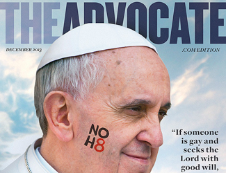 "Papa Francesco è la persona dell'anno per la rivista gay ""The Advocate"""