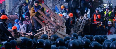 La notte di scontri a Kiev