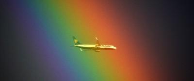 Il doppio arcobaleno a Roma