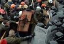 Gli scontri di domenica a Kiev